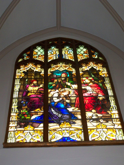 St. Patrick's Roman Catholic Church Stained Glass Window
