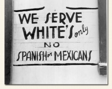 sign for serving whites only