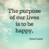 the-purpose-of-life is to be happy