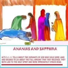 Why did God kill Ananias and Sapphira for lying?
