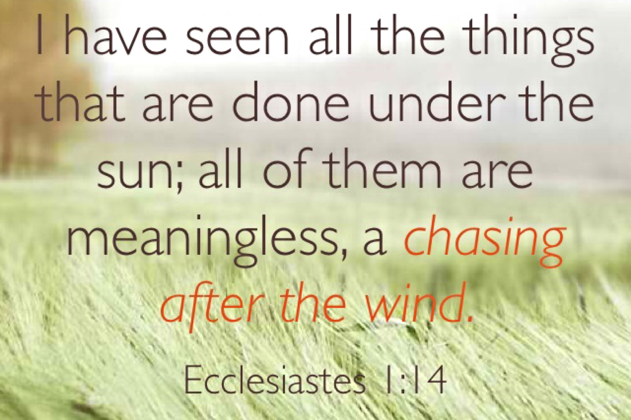 am i headed for failure ecclesiastes