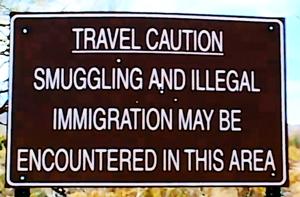 Caution Ilegal immigrants