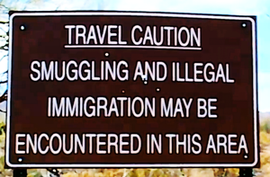 Caution Ilegal immigrants