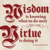 virtue is doing it