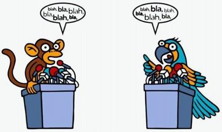 debate parrots