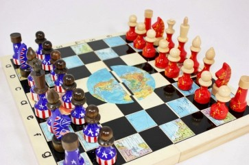 russia versus US chess set