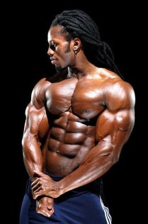body builder with long hair