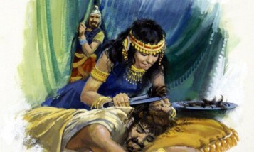 samson-delilah-cutting hair