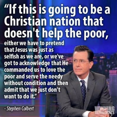 christ says help the needy.