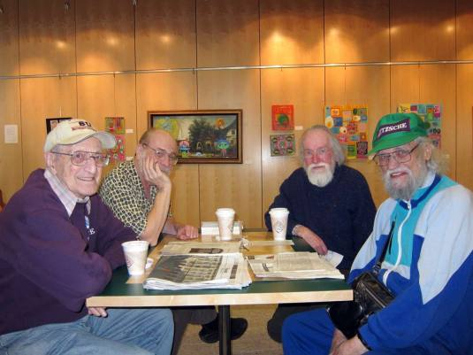 old men coffee club