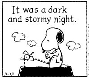 snoopy-dark-and-stormy-night