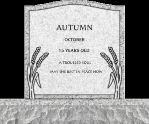 Autumn gravemarker