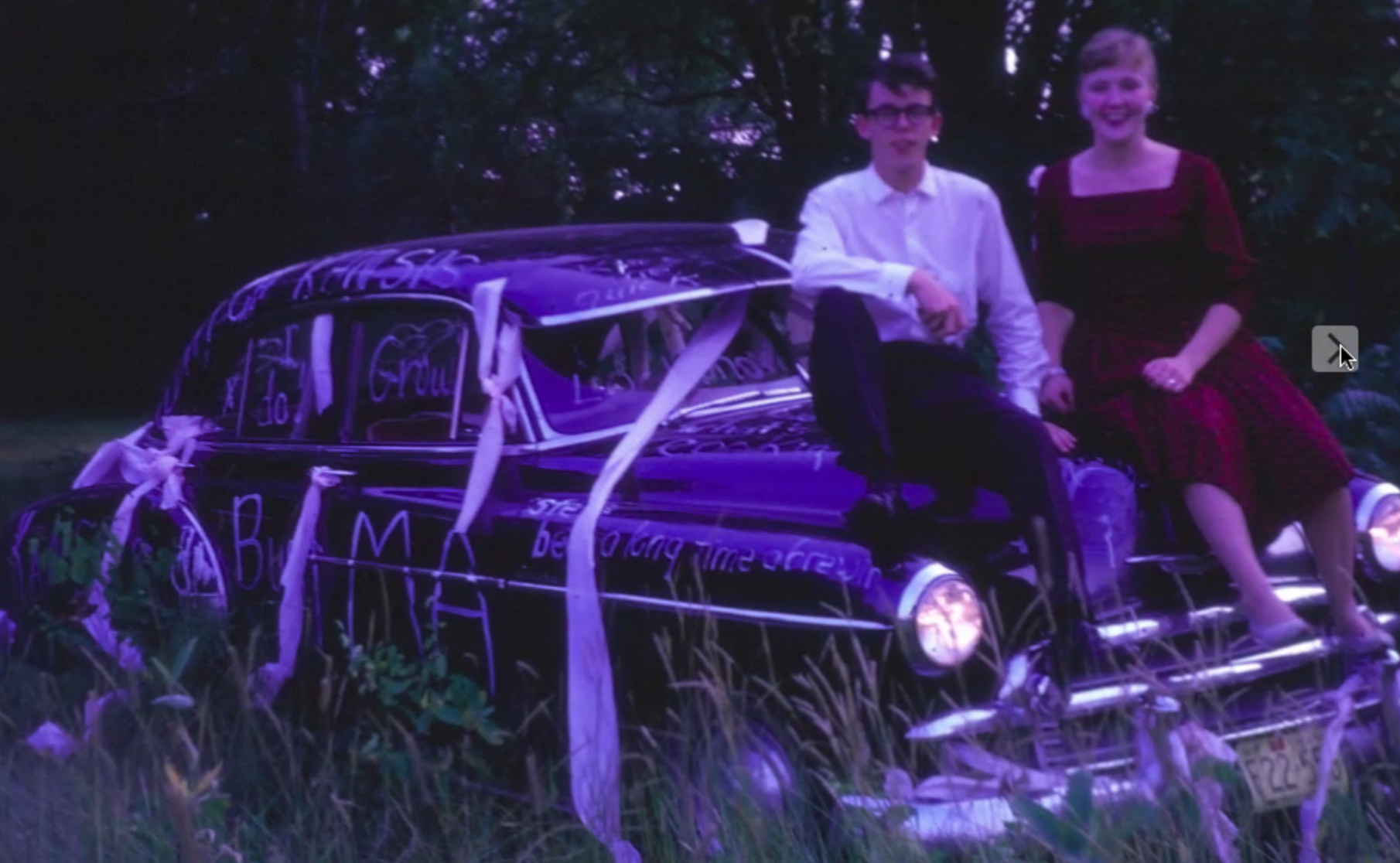 corny stefan wedding car